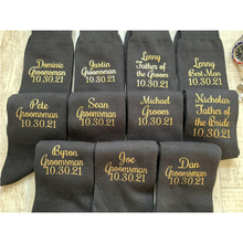 Personalised Name and date wedding Groom/Best man/Groomsman/Father of the Groom/Page boy gift cotton