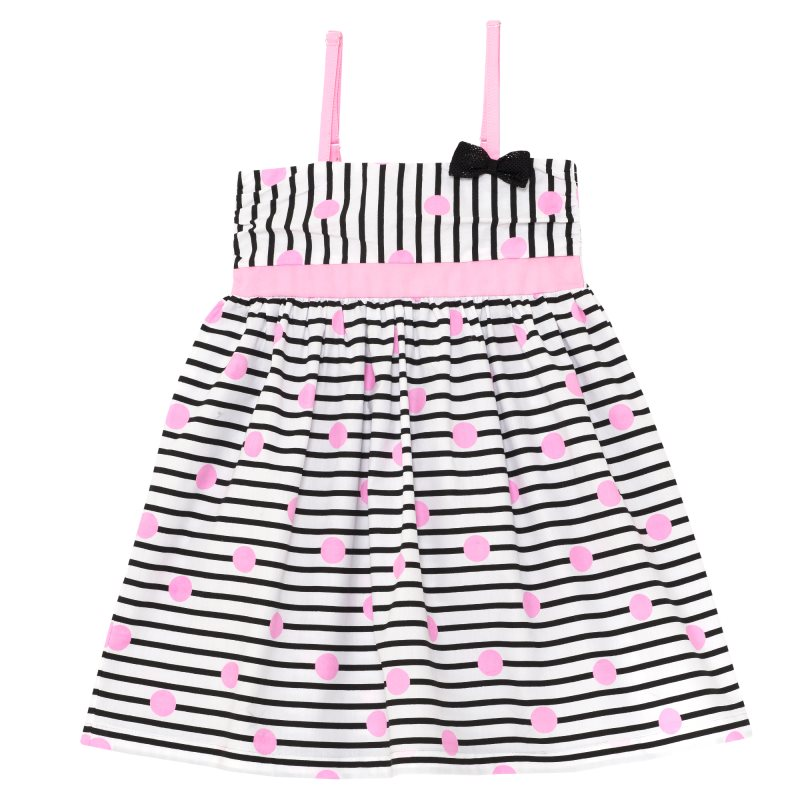 Dress Chicco, size 098, black and white stripe sleeveless stripe pattern transparent mini dress