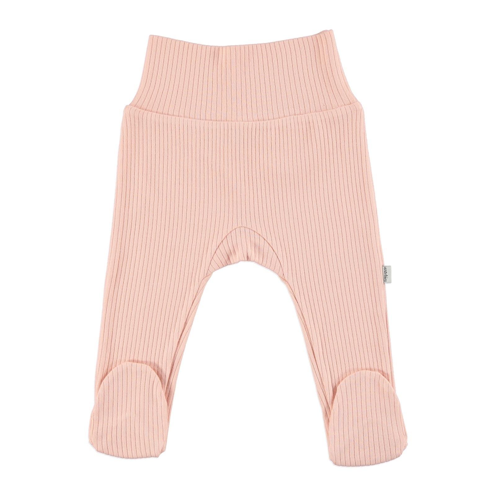 Ebebek Antebies Baby Organic Pink Reported Rib Pants