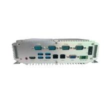 Computador industrial processador intel i5-7300U i7-7500U mini computador 64gb 128gb windows 10 mini computador fanless