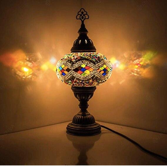 Турецкая мозаичная лампа Лебедь Шея Марракеш стеклянная лампа турецкие огни Тиффани прикроватный столик Турецкая лампа настольная лампа С