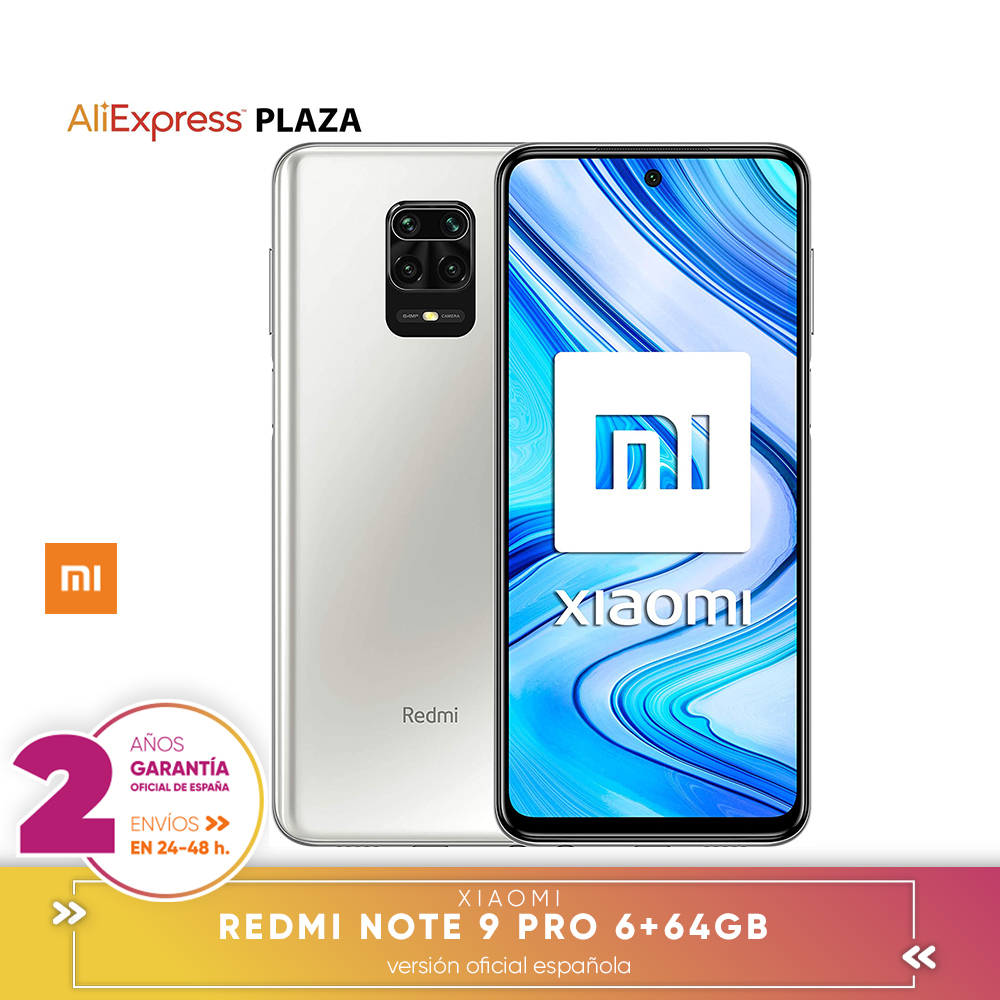 [Official Spanish version] Xiaomi Redmi Note 9 Pro 6 + 64 hard GB, 6 + 128 hard GB Smartphone 6.67 DotDisplay,Qualcomm SnapdragonTM720G