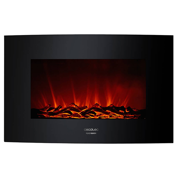 Decorative Electric Chimney Breast Cecotec Warm 3500 Curved Flames 2000W