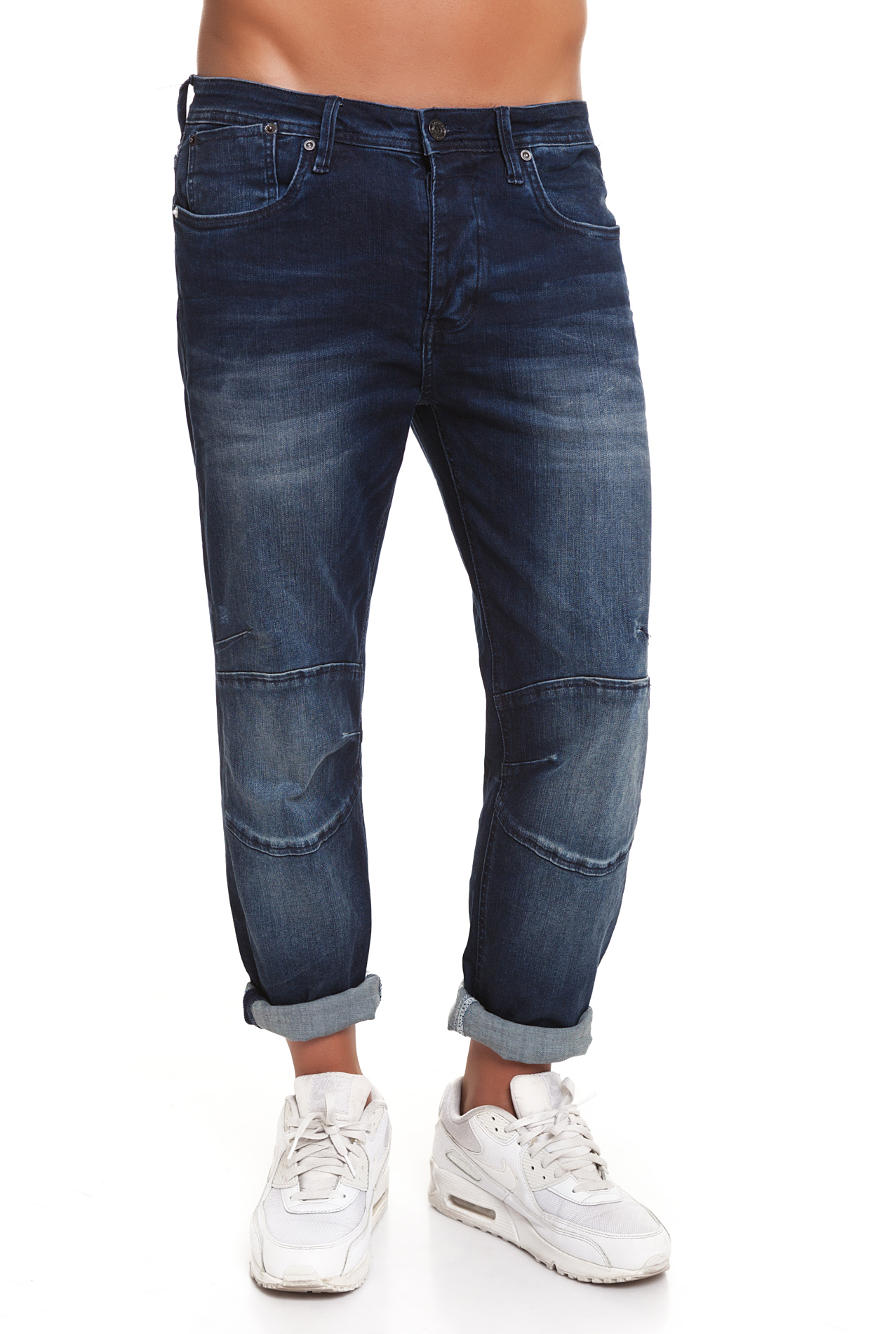 CR7 Jeans For Men Dark Blue Casual Jeans Casual Skinny Super Engineer With Pockets CRD031A