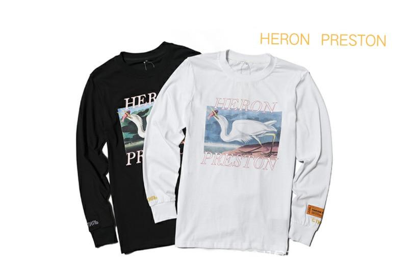 Heron Preston crane printed cotton couple autumn bottomed long sleeves 1