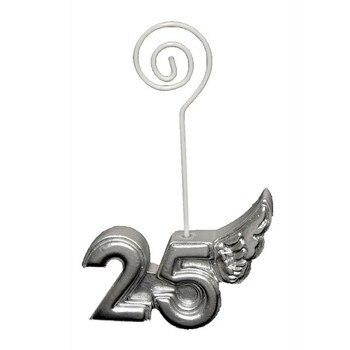 Lote de 20 Pinzas Portanotas Porta Fotos 25 ° Aniversario Bodas de...