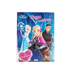 COLORING BOOK FROZEN PEGACOLOR WITH STICKERS 12 PAGES 210X280 MM 24 Pcs