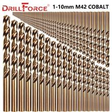 Drillforce 91 sztuk 1 10MM M42 8% zestaw wierteł kobaltowych, HSS CO zestaw wierteł, do wiercenia na stal hartowana, żeliwo i stal nierdzewna