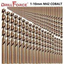 Drillforce 91PCS 1 10MM M42 8% Kobalt Bohrer Bit Set, HSS CO Bohrer Set, für Bohren auf Gehärtetem Stahl, Gusseisen & Edelstahl