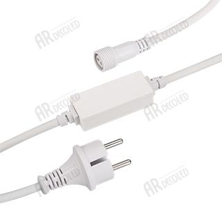 Power Cord 025886 ARD-CLASSIC-FLASH-1.5M White (230 V, 1.6A) ARLIGHT 1-pc
