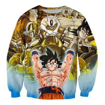 KISSQIQI Men Sweatshirt 3D Printed New Style Goku Cartoon Casual Spring Sweatshirt  Maximum Size S-3XL 1