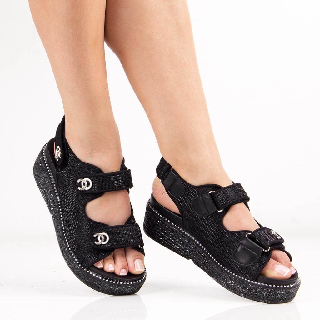 Guja-Black Female Sandals