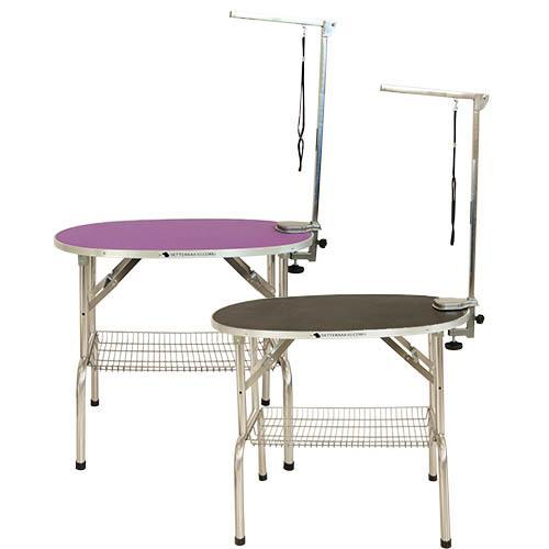 Folding Table Oval Folding Table OVAL BLACK