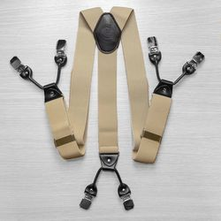Hosenträger für hosen breite (4 cm, 6 clips, beige) 53960