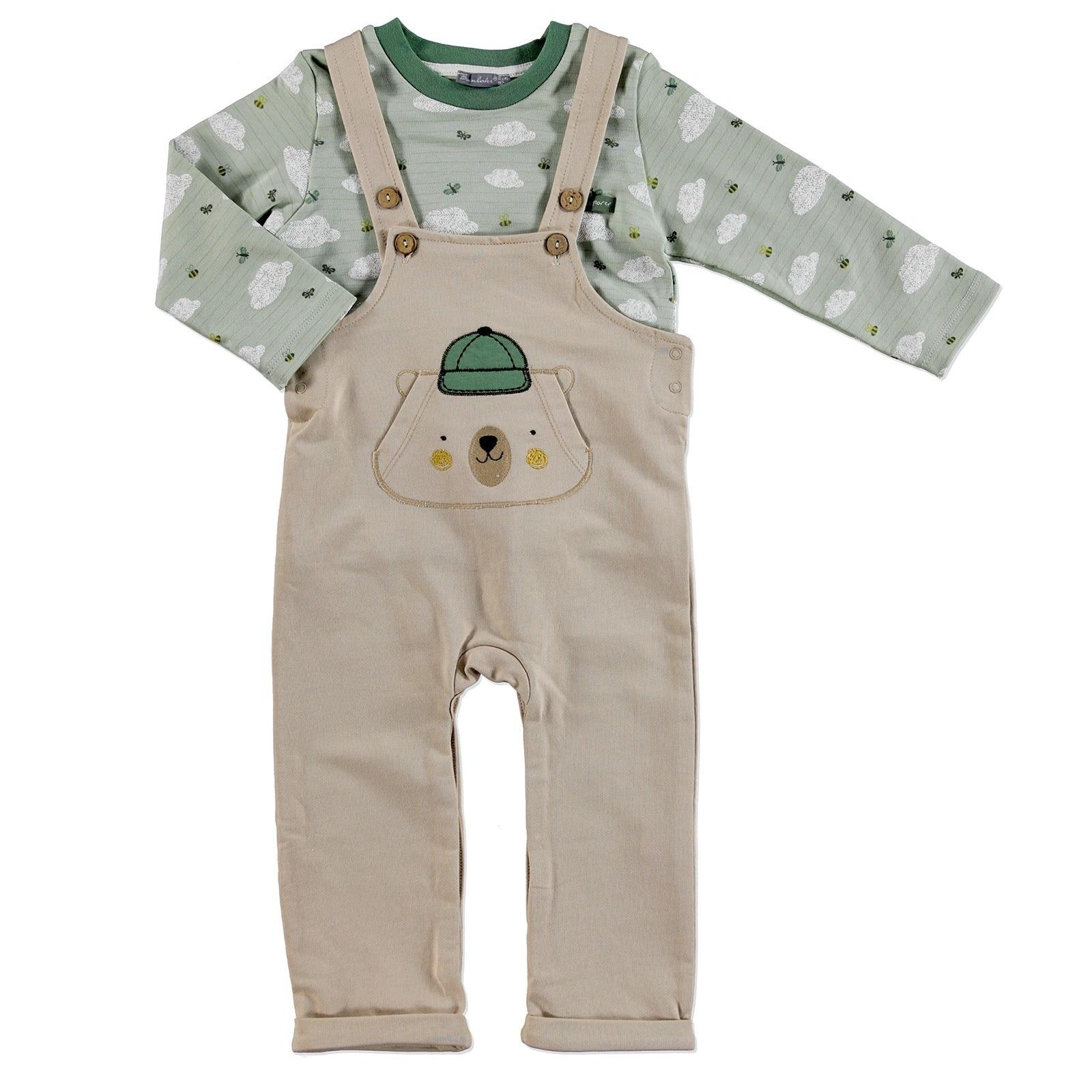 Ebebek Bambaki Scout Bear Baby Boy Dungarees Sweatshirt 2 Pcs Set