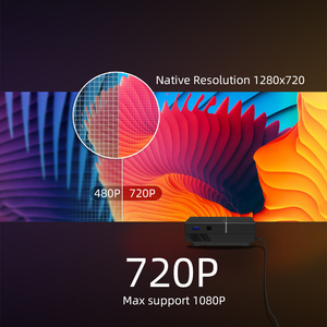 Image 2 - BYINTEK K8 Mini LED แบบพกพา1080P 150นิ้วโฮมเธียเตอร์โปรเจคเตอร์ดิจิตอลสำหรับ3D 4K Cinema (อุปกรณ์เสริม Android 10กล่องทีวี)