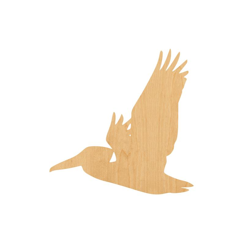 Pelican 1 Laser Cut Out Wood Shape Craft Supply - Unfinished