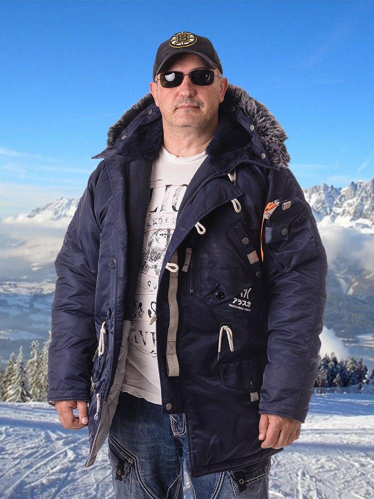 Аляска Apolloget SAPPORO мужская зимняя куртка с капюшоном из искусственного меха, с карманами, водонепроницаемым материалом|Парки| | АлиЭкспресс