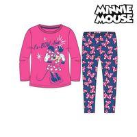 Children's Pyjama Minnie Mouse 74738 Fuchsia Blue (2 Pcs)   -