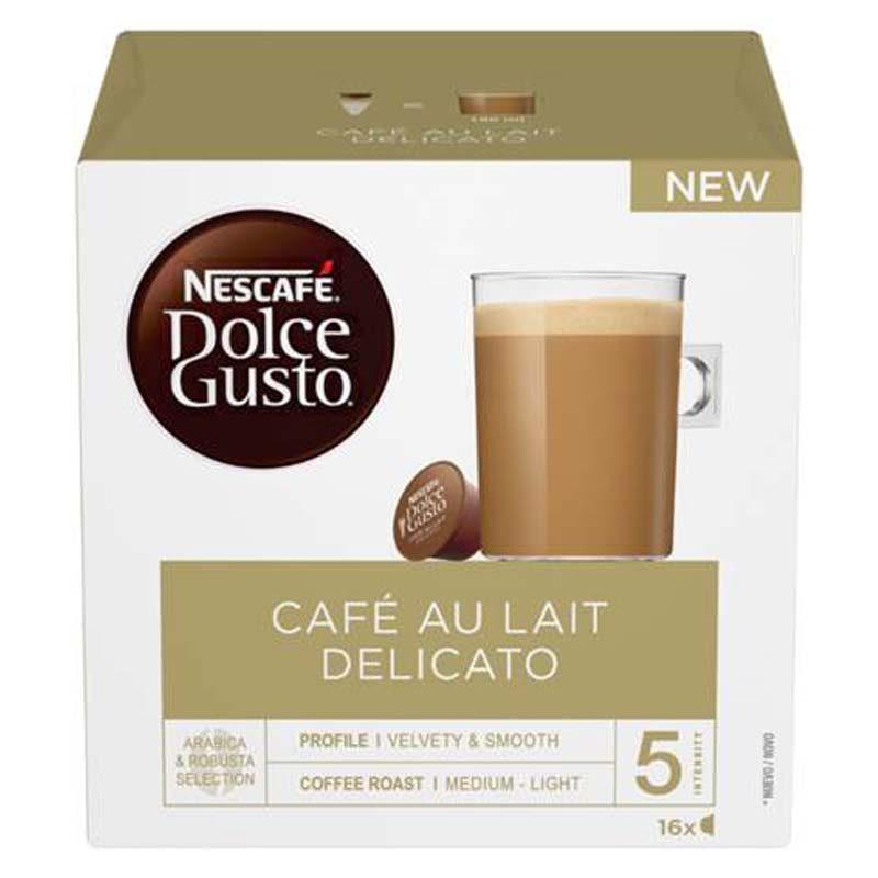 Cafe Au Lait Delicato, 16 Capsules Nescafé Dolce Gusto®Original
