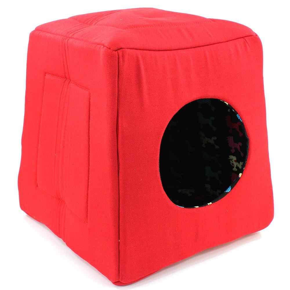 coj/ín de Dormir para Perro Cama para Gato y Perro peque/ño para Mascotas JINTN Acolchado desenfundable de Terciopelo Redondo Lavable Cesta de 38 cm de di/ámetro algod/ón