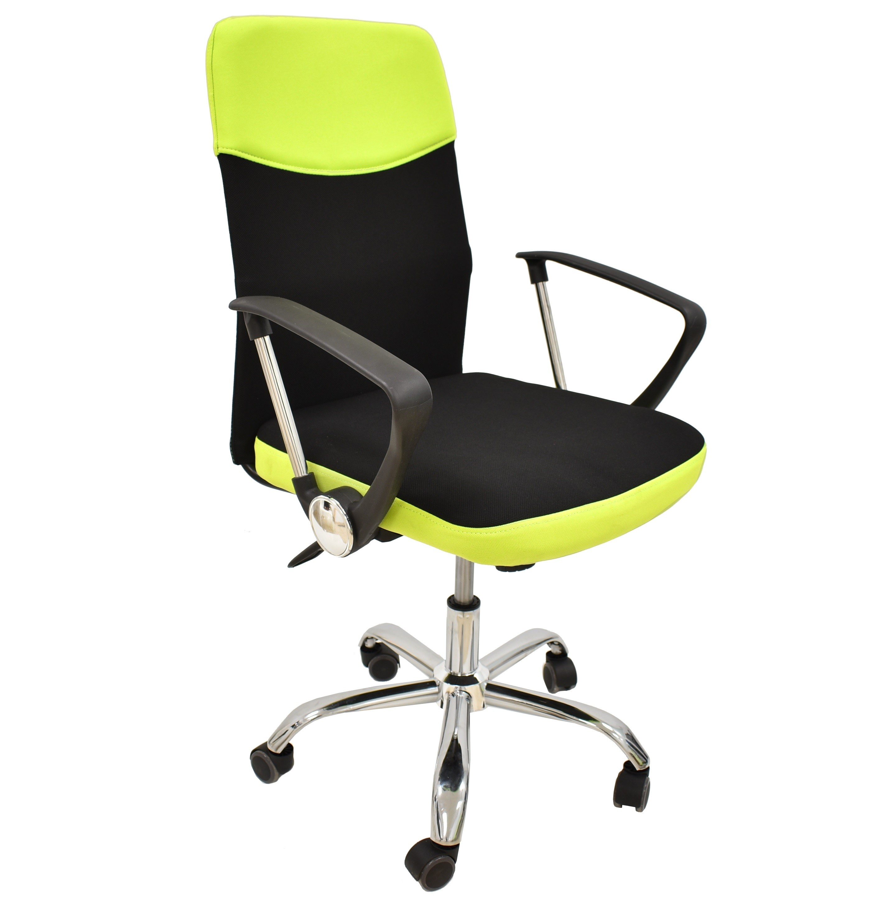 Office Armchair TANGO, Gas, Tilt, Fabric Black Green