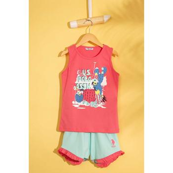 U S Polo Assn Czerwona piżama zestaw 50210107-VR039 tanie i dobre opinie