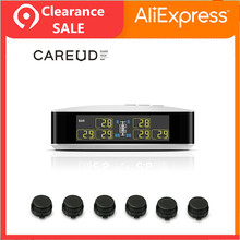 CAREUD U8T Business Auto Vrachtwagen Draadloze Bandenspanningscontrolesysteem 6 Externe Sensor LCD Display Auto Alarmsystemen