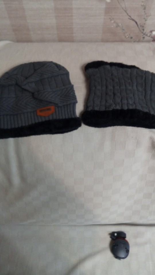 Unisex Winter Beanie Hat and Scarf Set photo review
