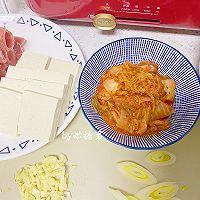 韩式肥牛泡菜豆腐汤的做法图解3