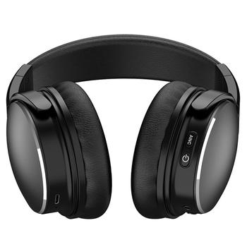 Black H1  headset  Bluetooth  headset  ANC  active noise reduction wireless headset Ultra long standby wireless charging headset