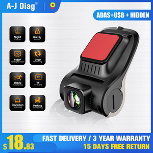 1080P Mini USB Hidden Driving Recorder 170° Super Wide Angle Car DVR Star night vision ADAS Assisted Driving System HD Camera