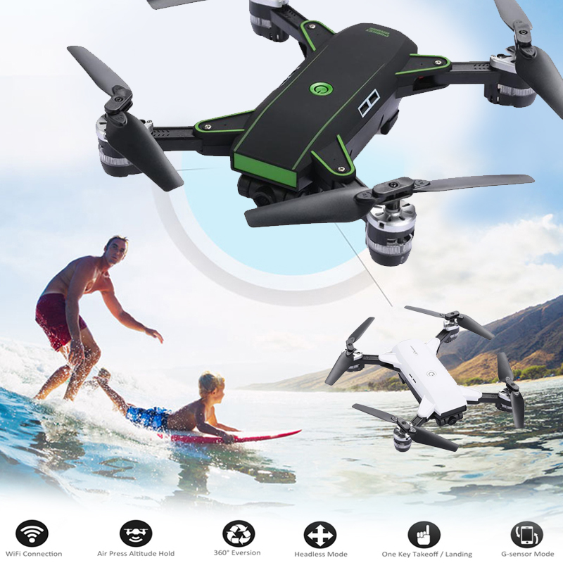 YH-19 Quadcopter Foldable Drone 30W White folding height WIFI FPV real-time image transmission aircraft