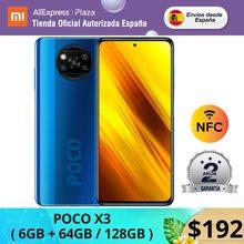 POCO X3 64 go/128 go de ROM avec 6 go de RAM, Qualcomm®Snapdragon™Android 732G, téléphone portable version globale