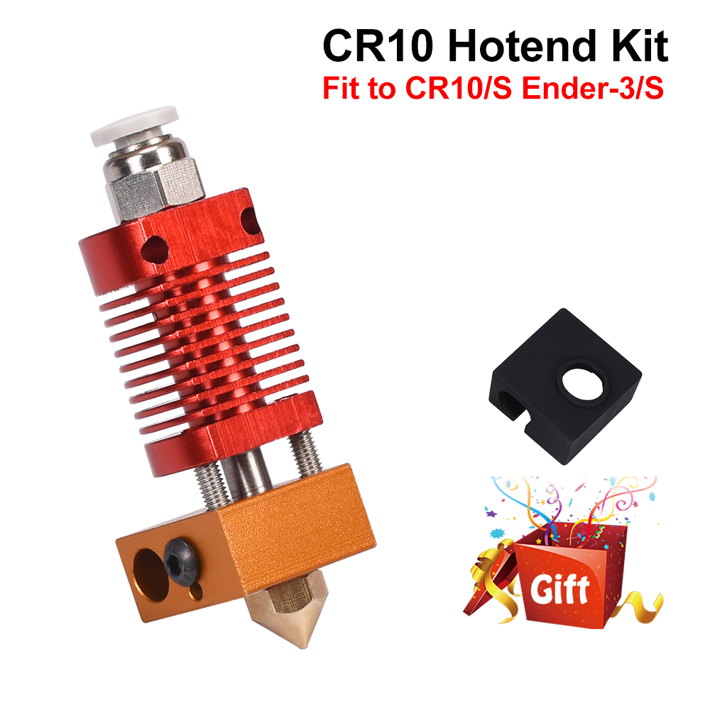 CR10 Hotend Extruder Kit MK8 Extruder 3D Printer Parts for Ender-3 CR10 Printer 1 75mm 0 4mm Nozzle j-head Heater Block parts