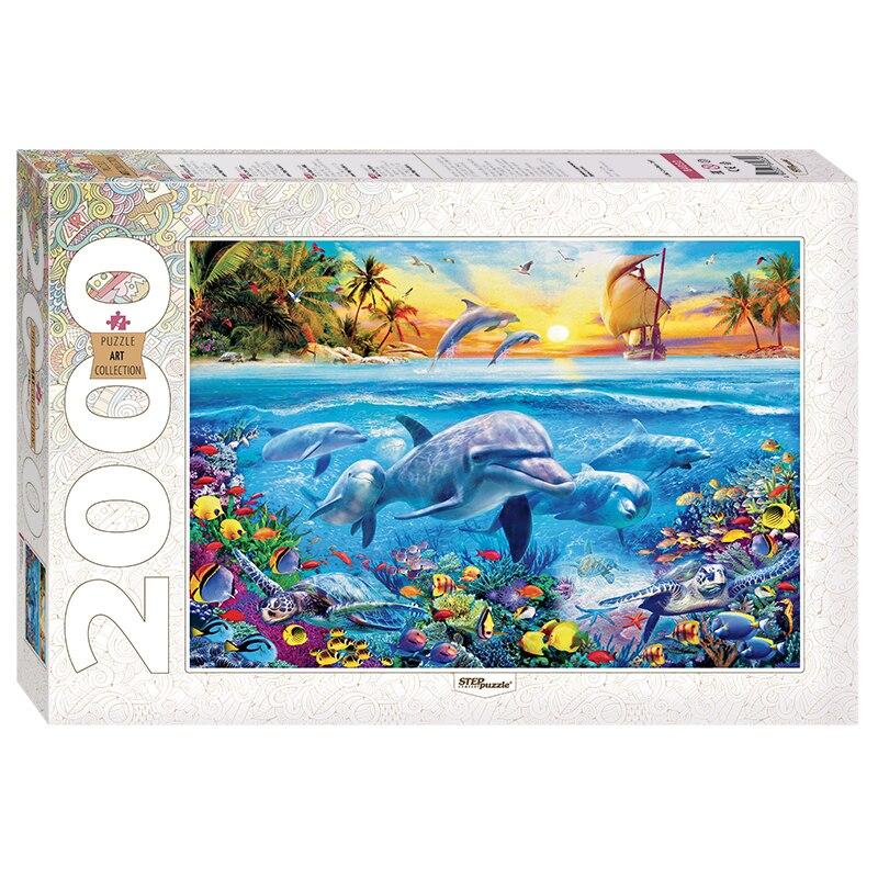 Пазл степ Дельфины 2000 деталей штук элементов art collection мозаика игра игрушка для детей развивающая занимательная логика