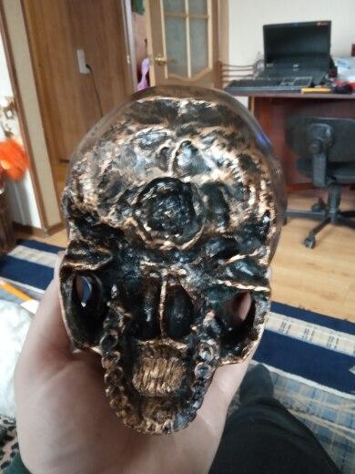 Estátuas e esculturas Imitação P-chama Crânio