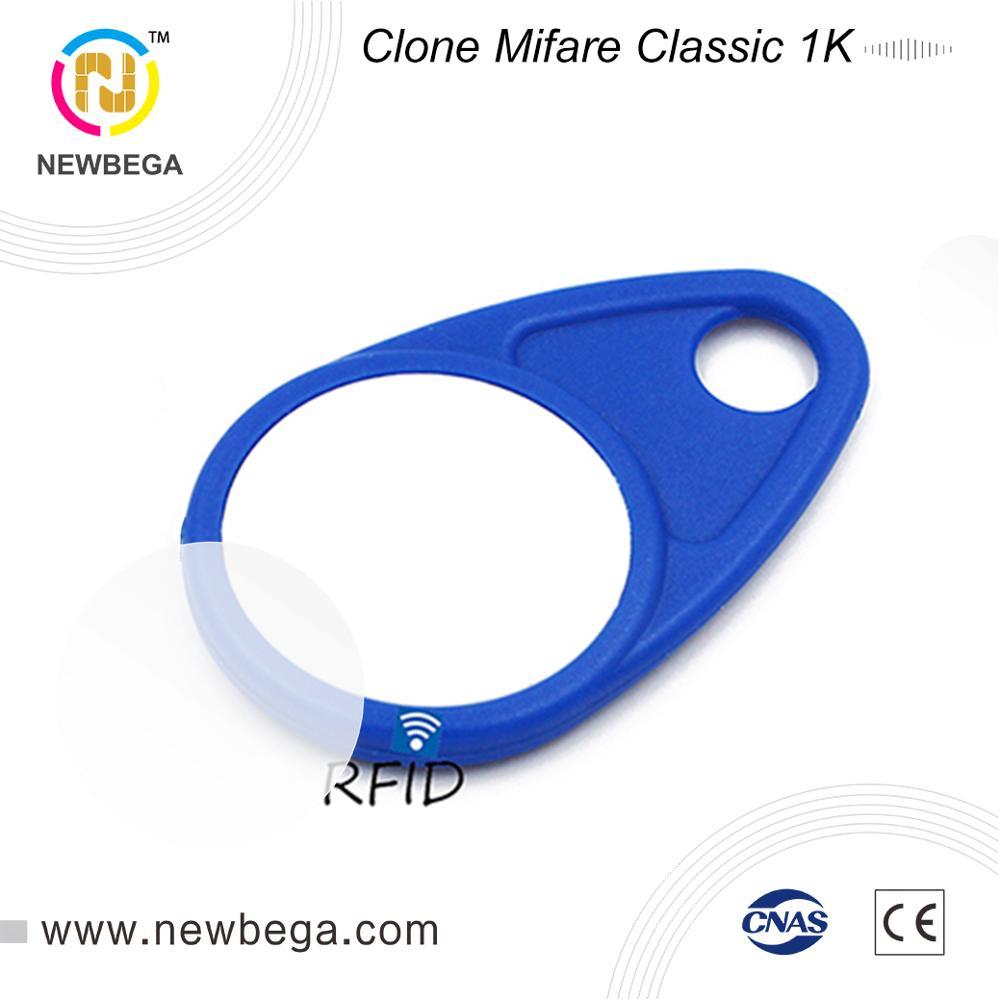 10PCS RFID 13.56MHz Clone MF1ICS50 AK007 S50 IC Badge Keychain For Access Control  Keyfob NFC Tag Key Free Shipping