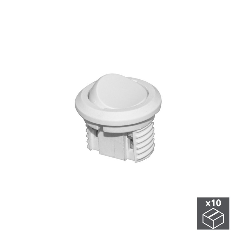 Lot Of 10 Switches Emuca Recessed White Plastic