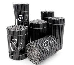 Черные свечи ручной работы из 100% натурального воска (1кг)