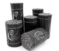 Black Candle handmade 100% natural wax (1kg package )