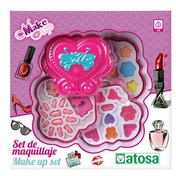Children's Make-up Set Heart Pink