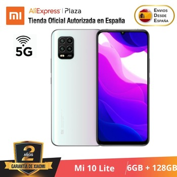 Купить Xiaomi Mi 10 Lite 5G (128 ГБ ROM con 6 ГБ RAM Android, Nuevo, Móvil) [telefono Móvil Versión Global para España] mi10lite