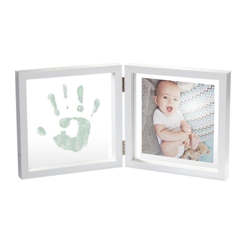 Marco doble transparente bebé estilo con una pintura blanca - 2
