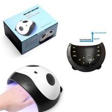 36 Вт/24 Вт USB милый Светодиодный УФ-светильник в форме панды для дизайна ногтей, гель-Сушилка для ногтей, аппарат для маникюра, перчатки для рук