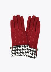 Lola CASADEMUNT Fist Gloves womens houndstooth