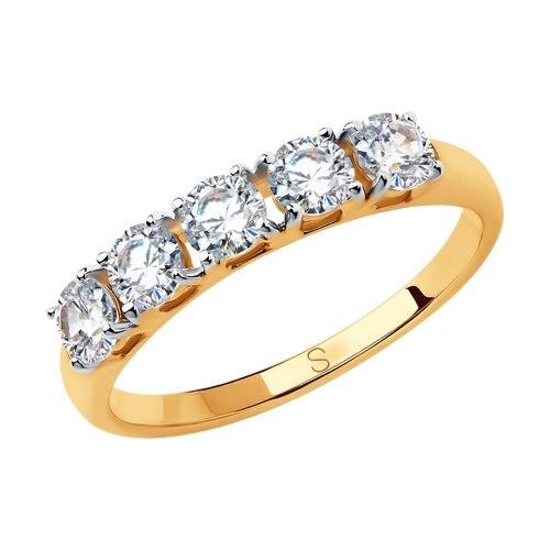 SOKOLOV Ring Gold With Swarovski Zirconia