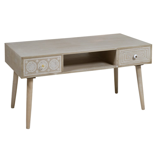 Centre Table Paolownia Wood (110 X 55 X 43 Cm)