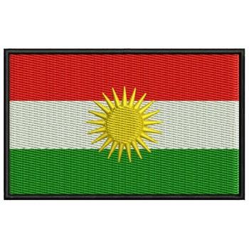 Bandera Kurdistan Para Mascarilla Parche Bordado Sắt Miếng Dán Toppa Ricamata Gestickter Miếng Dán Miếng Dán Brode
