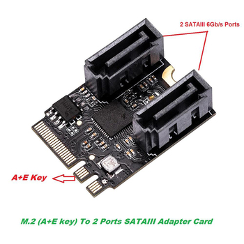 M.2 ngff A+E key to sata 3.0 SSD adapter card by pci e 3.0 bus SATA 6GB/s no drive for wifi SSD HDD motherboard open source freeware e mail to s m s alert system